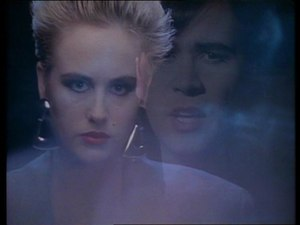 "Human (The Human League song) - Screenshot of promotional video for ""Human"" 1986"