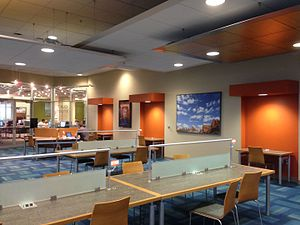 University of Texas at San Antonio Libraries - The Quiet Study Area located on the JPL's 2nd floor