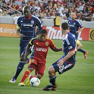 Joao Plata - Plata playing against the Chicago Fire on May 25, 2013