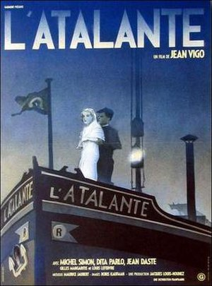L'Atalante - 1990 re-release poster by Michel Gondry