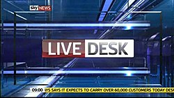 Sky News's 'Live Desk' is based on the program of the same name on Fox News Channel