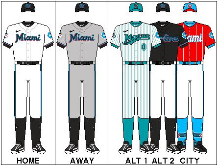 MLB-NLE-MIA-Uniform