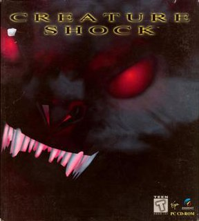 <i>Creature Shock</i> sci-fi first-person shooter video game released on the PC and 3DO
