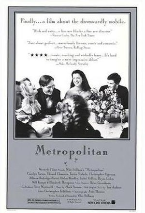 Metropolitan (1990 film) - Promotional poster for Metropolitan