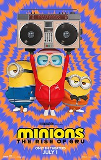 <i>Minions: The Rise of Gru</i> 2022 computer-animated film directed by Kyle Balda