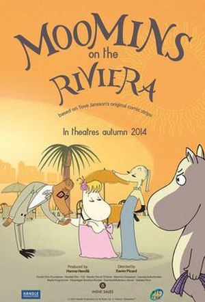 Moomins on the Riviera - The international poster