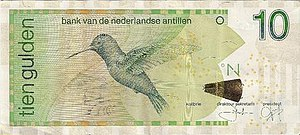 Netherlands Antillean guilder - Image: Netherlands Antilles 10 gulden bill