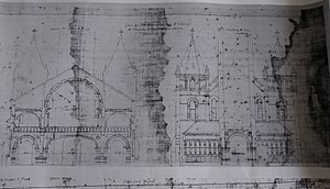 Annunciation Church (Houston) - Nicholas Clayton's remodeling plan, 1893