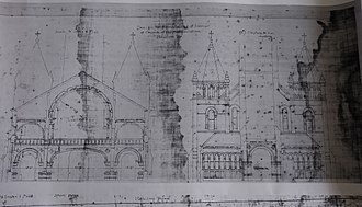Annunciation Church (Houston) - Nicholas Clayton's remodeling plan, 1893