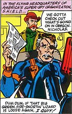 Nick Fury and Dum Dum Dugan in The Transformers #3 (Jan. 1985). Pencil art by Frank Springer.