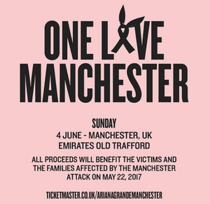 One Love Manchester - Promotional poster for the concert