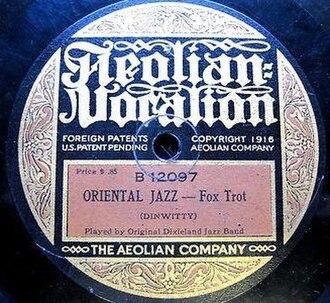 "Tony Sbarbaro - ""Oriental Jazz"" released on Aeolian Vocalion in 1919"