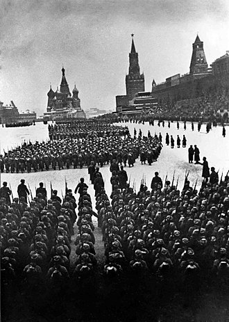 331st Rifle Division (Soviet Union) - October Revolution Anniversary Parade, Red Square, Moscow, Nov. 7, 1941