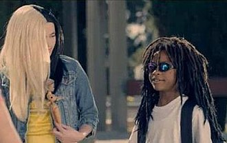 This Is What Rock n' Roll Looks Like - Porcelain Black and Lil Wayne depicted as children in the music video.
