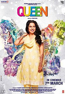 <i>Queen</i> (2013 film) 2013 Indian comedy-drama film directed by Vikas Bahl