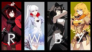 RWBY - Volume 5 cover with the main characters