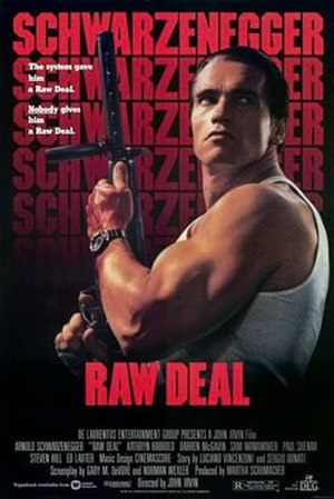 Raw Deal (1986 film) - Theatrical release poster by John Alvin