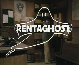 Rentaghost - The Rentaghost title card, as it appeared in the first episode.