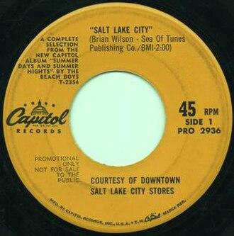 Salt Lake City (song) - Image: Salt Lake City The Beach Boys