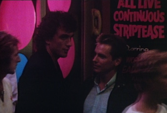 Saturday Night (Cold Chisel song) - From the video, Ian Moss and Phil Small outside a strip club in Kings Cross