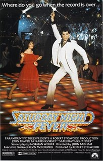 <i>Saturday Night Fever</i> 1977 disco-themed film directed by John Badham