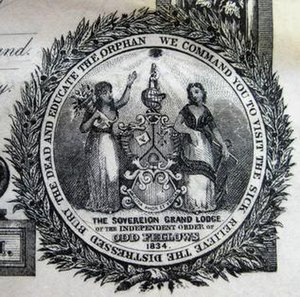 Independent Order of Odd Fellows - Seal of the Sovereign Grand Lodge.
