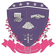 The official crest of Sigma Lambda Gamma.