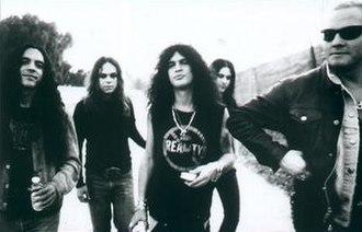 Slash's Snakepit - From left to right: Mike Inez, Eric Dover, Slash, Gilby Clarke and Matt Sorum.