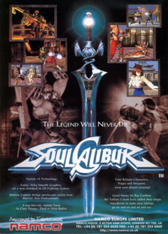 Soulcalibur (video game) - European arcade flyer