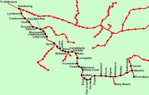 South Gippsland railway line - Image: South Gippsland line