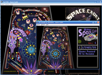 Full Tilt! Pinball - Image: Space Cadet Pinball, Visual Comparison of Full Tilt and Windows XP versions