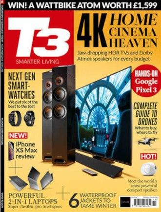 T3 (magazine) - Image: T3 November 2018 cover