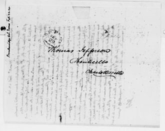 James Breckinridge - February 22, 1825 letter from Thomas Jefferson to General Breckinridge.