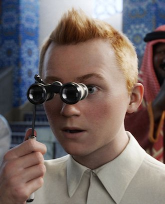 Tintin (character) - Tintin as he appears in Steven Spielberg's 2011 motion capture feature film The Adventures of Tintin: The Secret of the Unicorn as portrayed by Jamie Bell