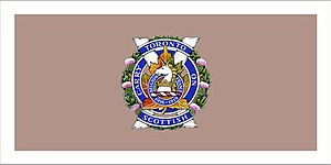 The Toronto Scottish Regiment (Queen Elizabeth The Queen Mother's Own) - The camp flag of The Toronto Scottish Regiment (Queen Elizabeth The Queen Mother's Own).