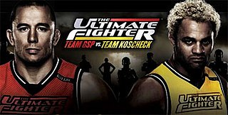 <i>The Ultimate Fighter: Team GSP vs. Team Koscheck</i> UFC mixed martial arts television series and event in 2010