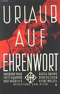<i>Urlaub auf Ehrenwort</i> (1938 film) 1938 film