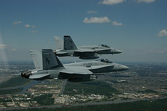 VFA-201 - Hornets of VFA-201 over New Orleans in May 2006.