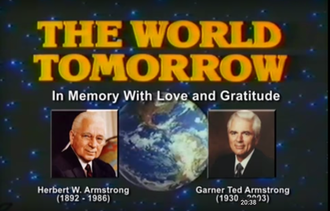 The World Tomorrow (radio and television) - The World Tomorrow title card