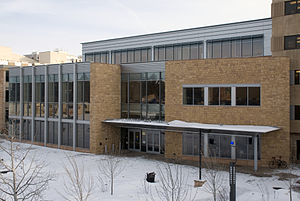 University of Wyoming - The main entrance to Coe Library