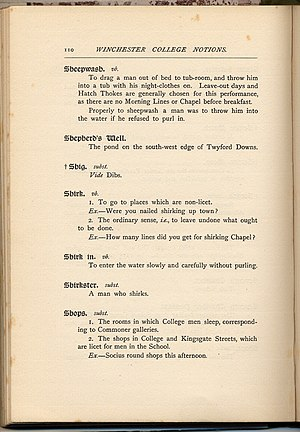 Notions (Winchester College) - A page from Winchester College Notions, by Three Beetleites, 1901