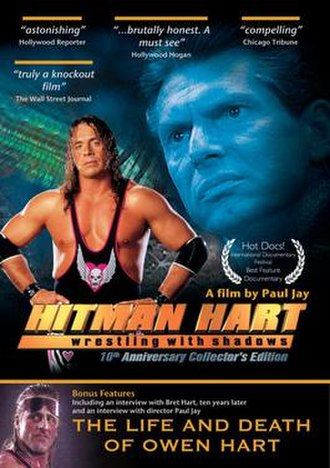 Hitman Hart: Wrestling with Shadows - 10th anniversary edition cover.