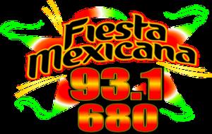 XHKQ-FM - Image: XHKQ Fiesta Mexicana 93.1 logo