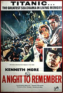 <i>A Night to Remember</i> (1958 film) 1958 film by Roy Ward Baker