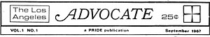 The Advocate - Masthead from The Advocate, volume 1, issue 1
