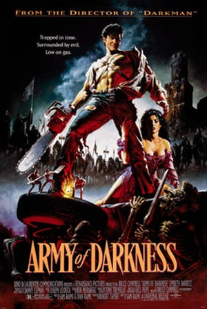 Army of Darkness - Theatrical release poster