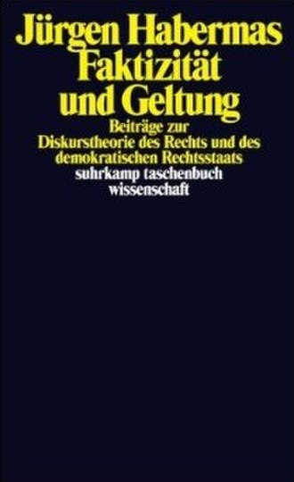 Between Facts and Norms - Cover of the German edition