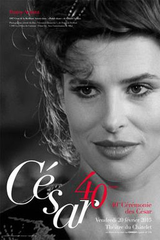 40th César Awards - The official César Award poster features French actress Fanny Ardant, in the 1983 film Vivement dimanche !