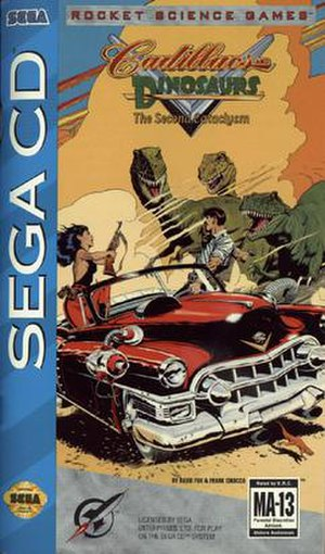 Cadillacs and Dinosaurs: The Second Cataclysm - Sega CD box art