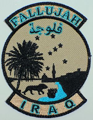 MEK Compound - Image: Camp Fallujah logo patch May 2008